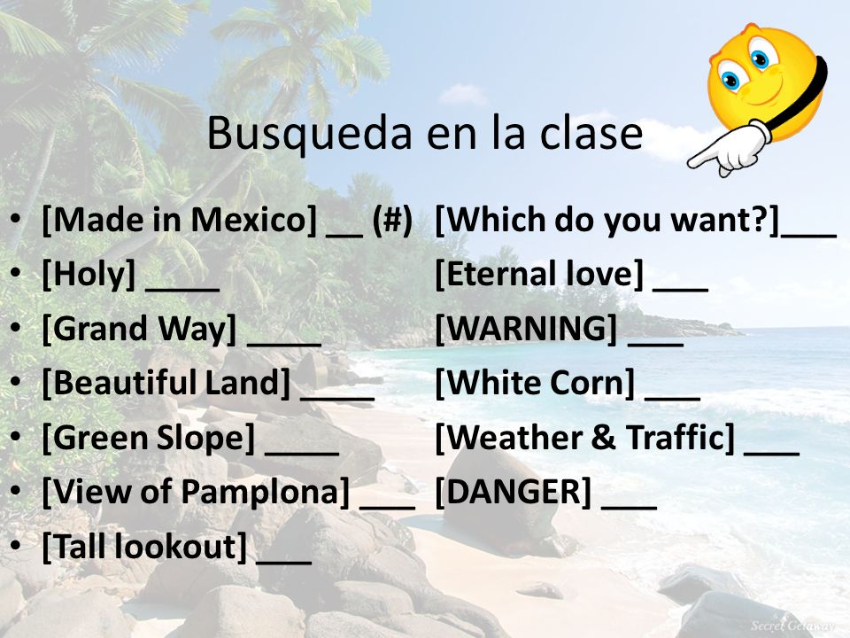 Busqueda en la clase [Made in Mexico] __ (#) [Which do you want ]___